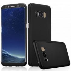 Husa Samsung Galaxy S8 Plus Fata Spate 360 Neagra - Husa Telefon Samsung, Negru, Plastic, Fara snur, Carcasa
