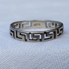 Inel argint VERSACE ca model VECHI vintage executat manual Patina frumoasa