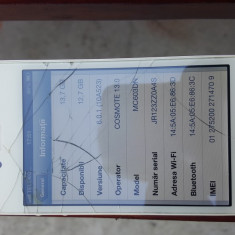 iPhone 4 Apple IOS 6.0.1, Alb, 16GB, Neblocat