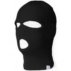 Masca protectie fata, cagula, ski, alte sporturi de iarna, culoare neagra, tip I - Echipament ski, Protectii, Unisex