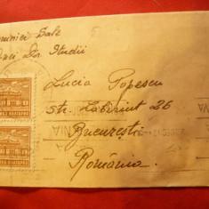 Plic circulat in Bulgaria cu pereche 2 leva 1947