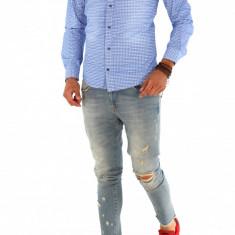 Camasa - camasa barbati - camasa slim - camasa fashion - cod 8738, Marime: S, M, L, XL, XXL, Culoare: Din imagine, Maneca lunga