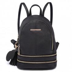Rucsac dama/ Rucsac negru Bunny - Model NOU - ghiozdan casual fete
