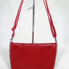 Geanta/plic dama rosie piele ecologica+CADOU - Geanta Dama, Culoare: Din imagine, Marime: Medie