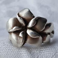 Inel argint FLOARE superb VECHI FRANTA 1920 art deco SPLENDID de Efect Elegant