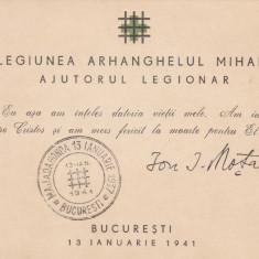 1941 CARNET LEGIONAR MARIN SI MOTA STAMPILA MAJADAHONDA 13 IAN.1937-13 IAN.1941 - Timbre Romania, Stampilat