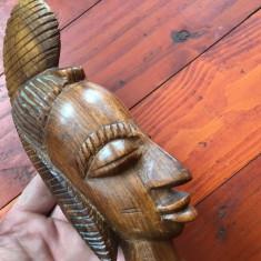 Statueta sculptura lemn exotic - Bust de femeie arta africana model deosebit !