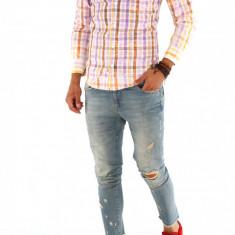 Camasa carouri - camasa barbati - camasa slim - camasa fashion - cod 8756, Marime: S, M, L, XL, XXL, Culoare: Din imagine, Maneca lunga