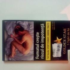 Nou!!! Pachet cu tutun sub forma de tigari Golden Stars 45 gram pachet 5 tigari