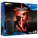 Consola SONY PS4 Slim 1TB, negru + Joc Tekken 7 Deluxe Edition, PlayStation 4