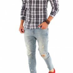 Camasa carouri - camasa barbati - camasa slim - camasa fashion - cod 8750, Marime: S, M, L, XL, XXL, Culoare: Din imagine, Maneca lunga
