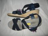 Sandale platforma Fugu Mar 40,5/ 41, Bleumarin, Textil