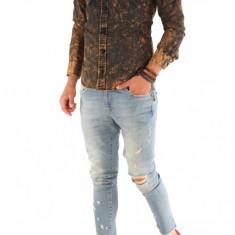Camasa carouri - camasa barbati - camasa slim - camasa fashion - cod 8744, Marime: S, M, L, XL, XXL, Culoare: Din imagine, Maneca lunga