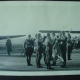 Foto militara germana, ofiteri Luftwaffe la Depunerea Juramantului pe Drapel - Fotografie veche