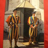 Ilustrata - Soldati din Garda Elvetiana, Necirculata, Fotografie