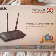 Wireless AC750 Dual-Band Router D-Link - Router wireless D-link, Porturi LAN: 4