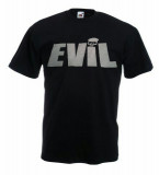 Tricou Cheloo Parazitii EVIL,XL,Tricou personalizat.Tricou Fruit of the Loom, Negru