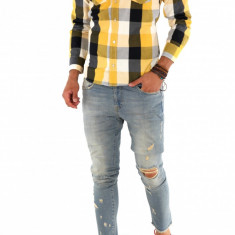 Camasa carouri - camasa barbati - camasa slim - camasa fashion - cod 8729, Marime: S, M, L, XL, XXL, Culoare: Din imagine, Maneca lunga