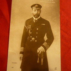 Ilustrata Regele George V - aliat puternic al Frantei WW1, Necirculata, Fotografie