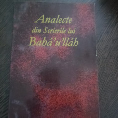 ANALECTE din Scrierile lui BAHA`U`LLAH - Editura Baha`i, 2003, 217 p. - Carti Iudaism