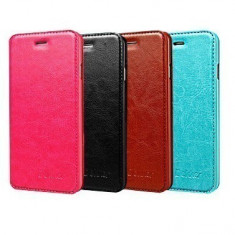 Husa Allview V1 Viper i 4G Flip Case Inchidere Magnetica Roz, Alt model telefon Allview, Piele Ecologica