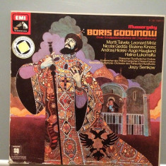 MUSSORGSKY - BORIS GODUNOW -4LP BOX(1977/EMI REC/W.GERMANY) - VINIL/QUADROPHONIC - Muzica Clasica emi records