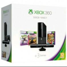 Consolă Xbox 360 Microsoft Gold + 500GB +3 jocuri+kinect
