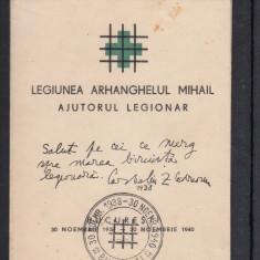 1940 CARNET FILATELIC LEGIONAR CODREANU - POSTA AERIANA STAMPILA BUCURESTI - Timbre Romania, Stampilat