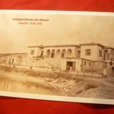 Ilustrata Institutul Roman din Albania infiintat de N.Iorga-Saranda 1938-1945, Circulata, Printata