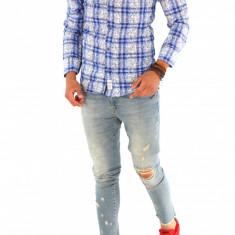 Camasa carouri - camasa barbati - camasa slim - camasa fashion - cod 8726, Marime: XL, Culoare: Din imagine, Maneca lunga