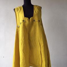Bluza din in, XXXL - Bluza XXXL, Culoare: Mustar