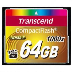 Card memorie Transcend Compact Flash 1000x 64GB - Card Compact Flash