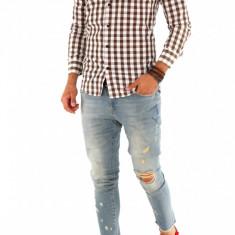 Camasa carouri - camasa barbati - camasa slim - camasa fashion - cod 8724, Marime: S, XXL, Culoare: Din imagine, Maneca lunga