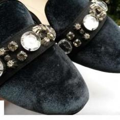 Pantofi ZARA dama nr.40 originali NOI - Pantof dama Zara, Culoare: Din imagine, Textil, Cu talpa joasa