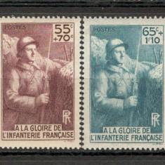 "Franta.1938 Monumentul ""Glorie Infanteriei"" XF.72, Nestampilat"