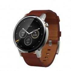 Smartwatch Motorola Moto 360 2nd generation 46 mm Men's Leather Silver Cognac