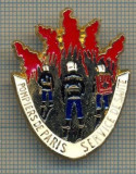 ZET 860 INSIGNA POMPIERI- POMPIERS DE PARIS-SERVICE DE SANTE-BALLARD-DORE OR FIN