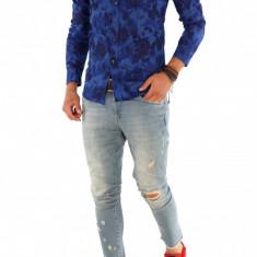 Camasa carouri - camasa barbati - camasa slim - camasa fashion - cod 8754, Marime: S, M, XL, XXL, Culoare: Din imagine, Maneca lunga