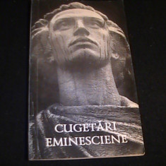 CUGETARI EMINESCIENE-SELECTIE V. MELNIC-CHISINAU- - Carte Proverbe si maxime