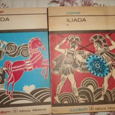 Iliada ( traducere - G. Murnu ) 2 vol./520pag/an 1973- Homer - Carte mitologie