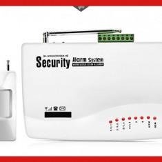 Sistem Alarma casa wireless cu GSM, senzori miscare, inchidere usi, telecomanda - Sisteme de alarma