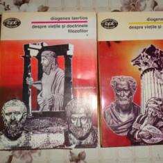 Despre vietile si doctrinele filozofilor 2 vol./892pag- Diogenes Laertios - Filosofie
