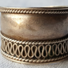Inel argint etnic TRIBAL vintage VECHI executat manual SUPERB de EFECT lat