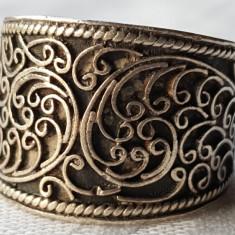 Inel argint etnic TRIBAL superb VECHI manopera SUPERBA de Efect Vintage rar