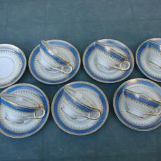 Set de cafea din portelan german foarte fin stantat Pearl China, Seturi