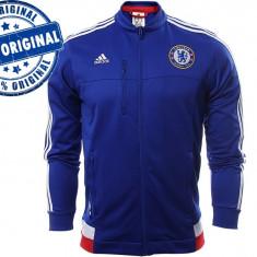 Bluza Adidas Chelsea pentru barbati - bluza trening originala - Bluza barbati Adidas, Marime: M, L, XL, Culoare: Albastru, Cu fermoar, Poliester