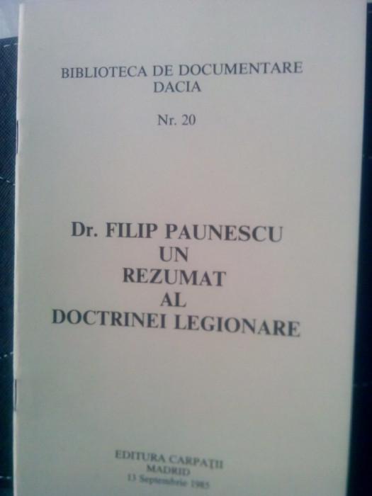 UN REZUMAT AL DOCTRINEI LEGIONARE EDITURA CARPATII MADRID1985 MISCAREA LEGIONARA