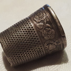 Degetar argint VECHI executat manual FRANTA 1900 art nouveau Patina minunata