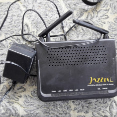 ROUTER WIRELESS JAZZTEL/ ADSL 2+, Porturi LAN: 4