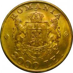 ROMANIA, 2000 LEI 1946 * cod 58.7 - Moneda Romania, Alama